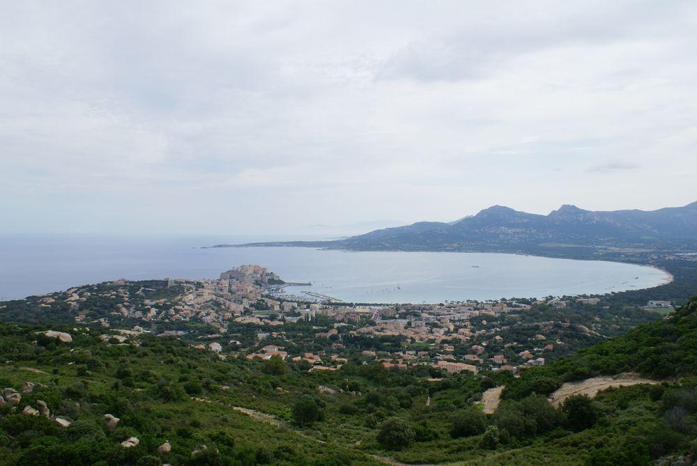 Baie de Calvi, vue de Notre Dame de la Serra