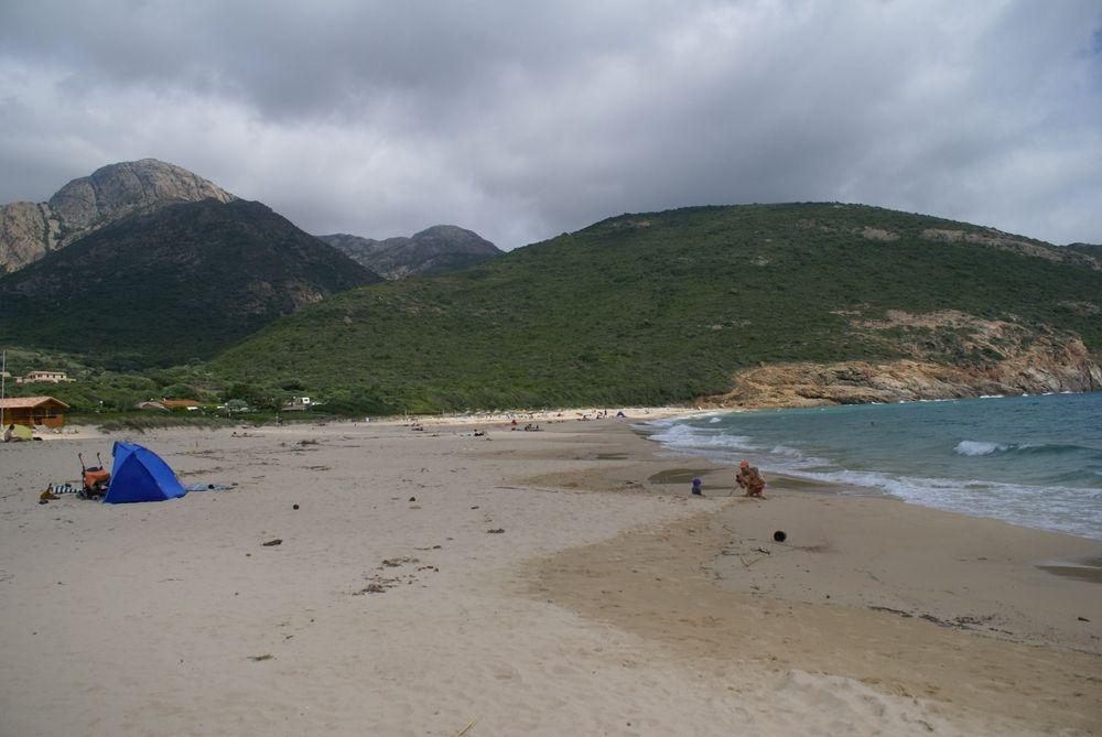 La plage d'Arone
