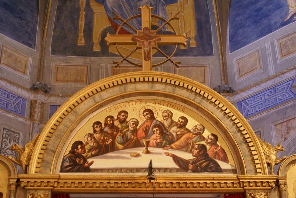 Intérieur de l'église Saint-Spyridon