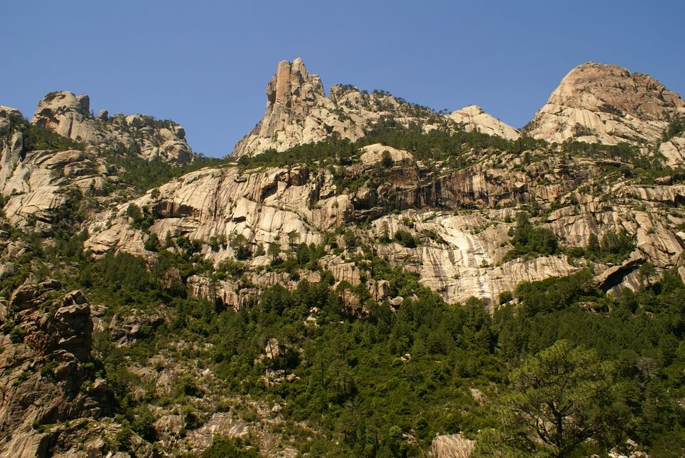 Sur le sentier menant aux cascades de Purcaraccia