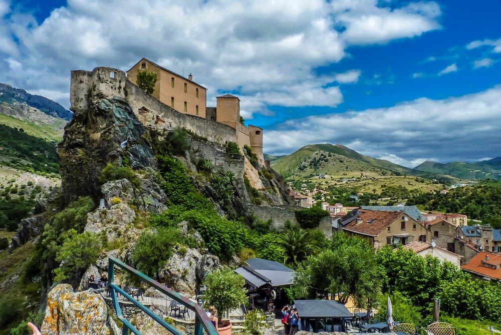 Citadelle de Corte, vue du belvédère