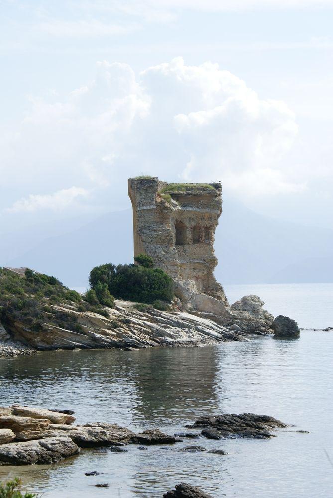 Tour de la Mortella, vue du sentier des Douaniers