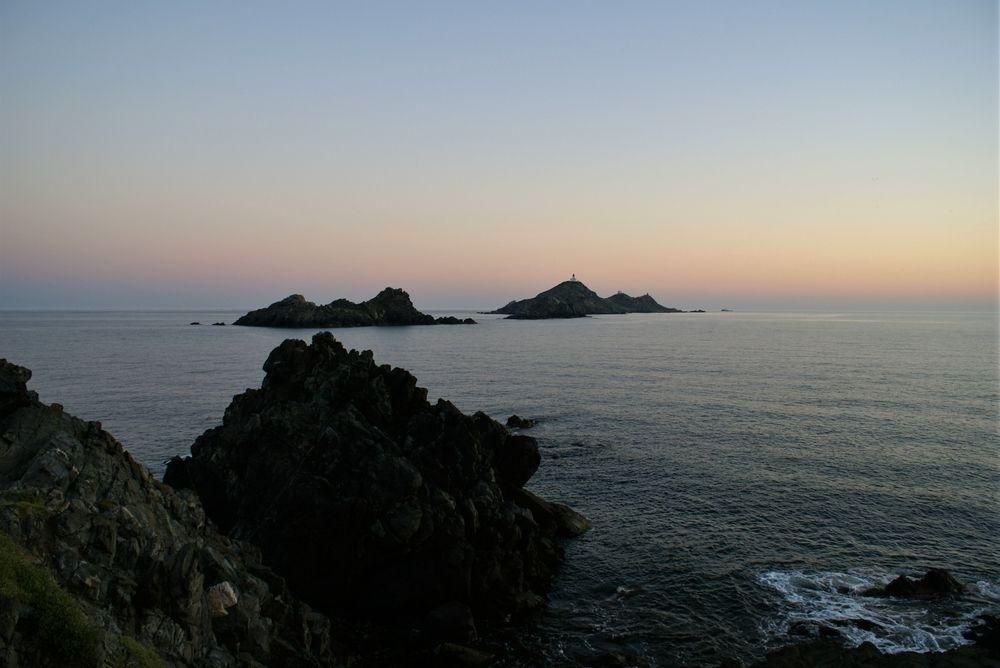 Les îles Sanguinaires, au coucher du Soleil
