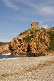 Tour génoise de Porto, vue de la plage - © Kalysteo.com