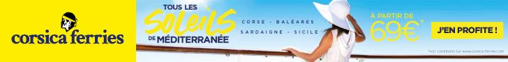 Traversées en ferry vers la Corse avec Corsica Ferries